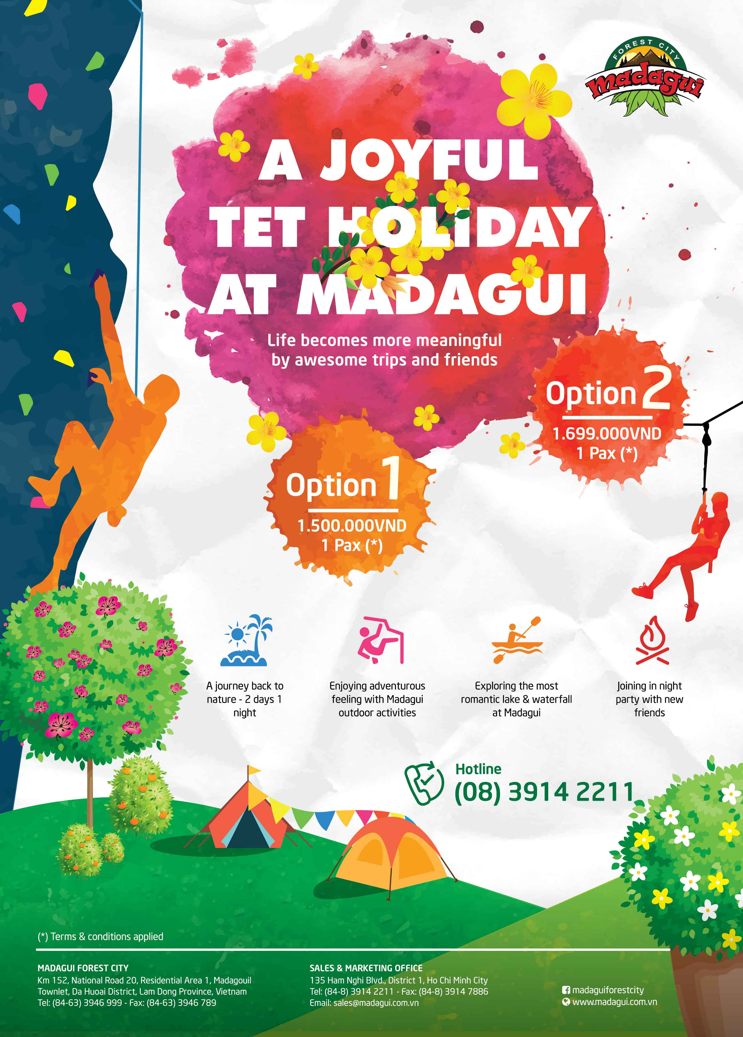 a joyful tet holiday at madagui madagui forest city. Black Bedroom Furniture Sets. Home Design Ideas